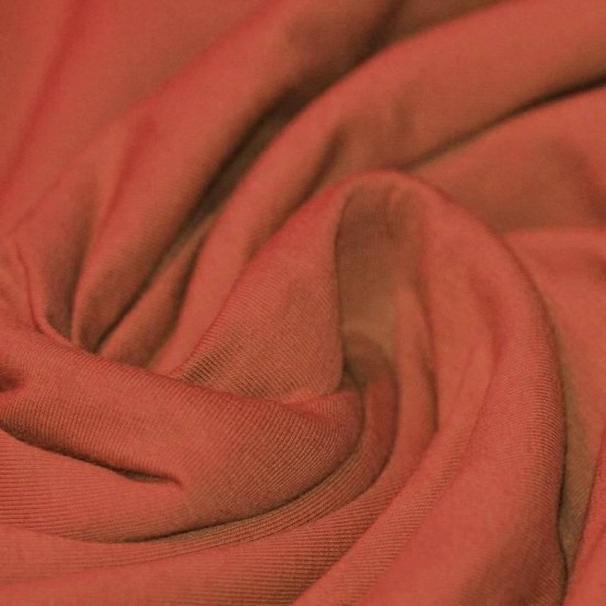 Cotton Jersey Knit Fabric Burnt Orange