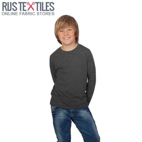 Cotton Jersey Knit Fabric Melee Dark Grey