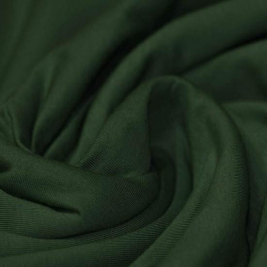 Cotton Jersey Knit Fabric Dark Green