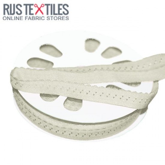 Stretchable Bias Binding Off White 20mm