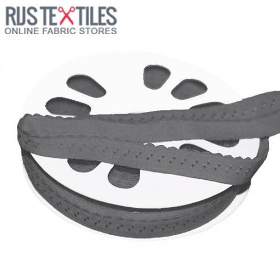 Stretchable Bias Binding Grey 20mm