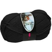 Knitting Wool ISPE Needle Size 5,5 - 6 Black