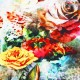 Bomuldjersey Digital Print - Stor Rose Blomst