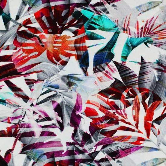 d98cf30cfd1 Jersey viscose digital colored leaves print per meter.
