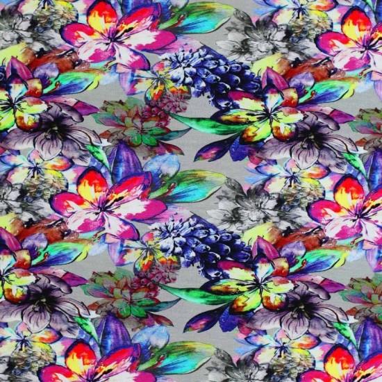 Digital Print Viscose Jersey - Lupine Flowers