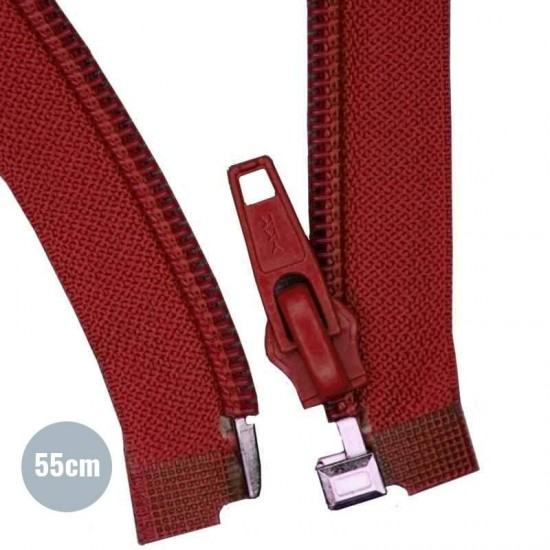Divisible Zipper YKK Bordeaux 55CM Nylon