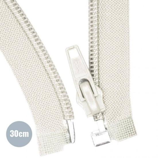 Divisible Zipper YKK Ecru 30CM Nylon