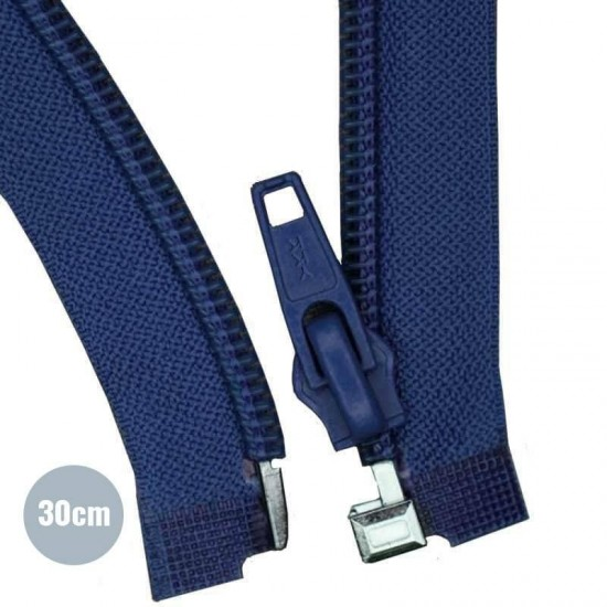 Divisible Zipper YKK Navy 30CM Nylon
