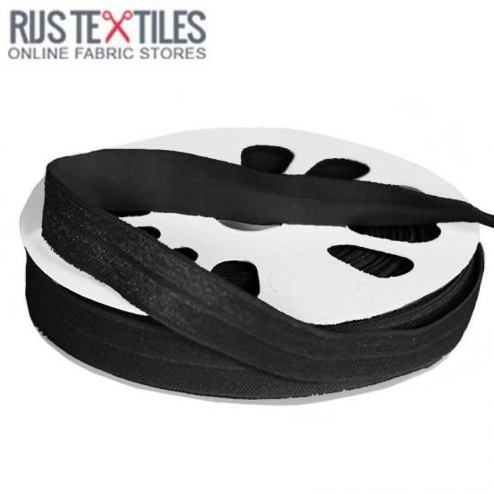 Elastic Edging Ribbon Black 17mm