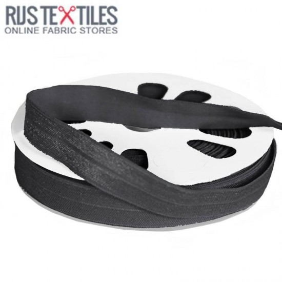 Elastic Edging Ribbon Dark Grey 17mm