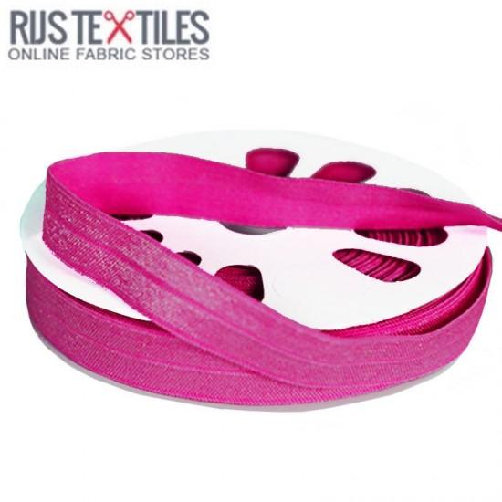 Elastic Edging Ribbon Fuchsia 17mm