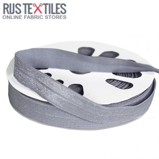 Elastic Edging Ribbon Steel-Grey 17mm