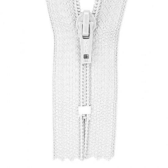 Zipper YKK White 45CM Nylon