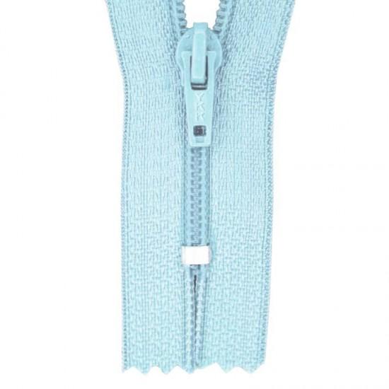 Zipper YKK Baby Blue 20CM Nylon