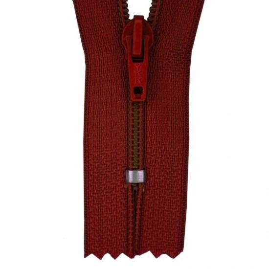 Zipper YKK Bordeaux 15CM Nylon