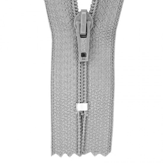 Zipper YKK Grey 30CM Nylon