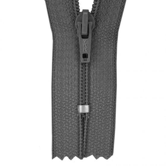 Zipper YKK Dark Grey 18CM Nylon