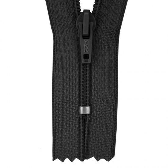 Zipper YKK Black 40CM Nylon