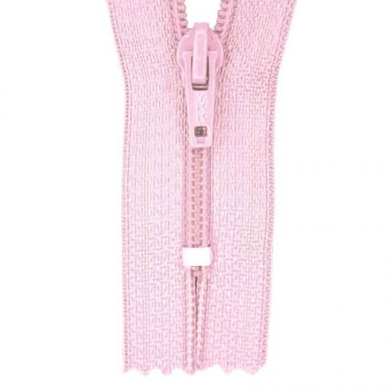 Zipper YKK Pink 45CM Nylon