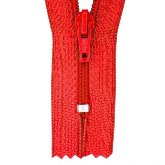 Zipper YKK Red 25CM Nylon