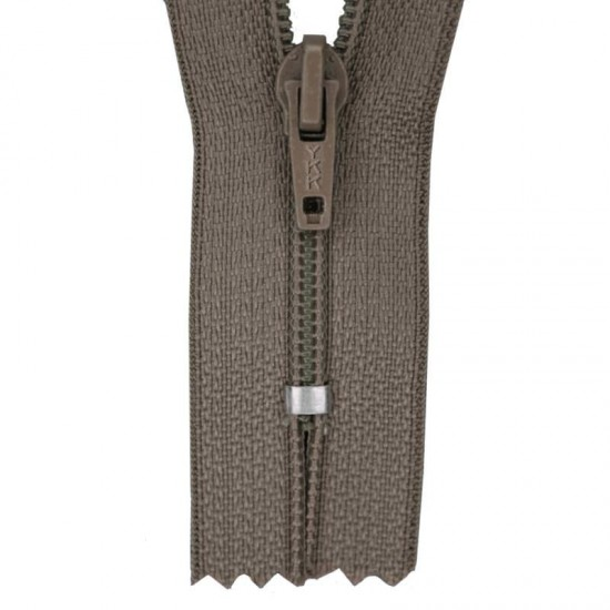 Zipper YKK Taupe 35CM Nylon