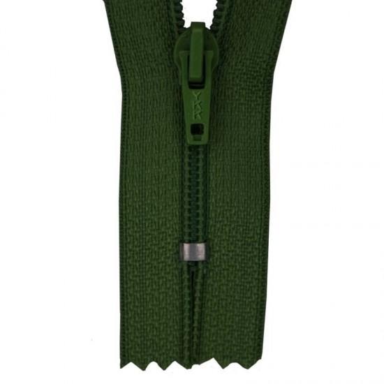 Zipper YKK Dark Green 20CM Nylon
