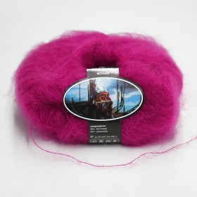 Mohair Yarn ISPE Needle Size 3,5 - 4 Fuchsia
