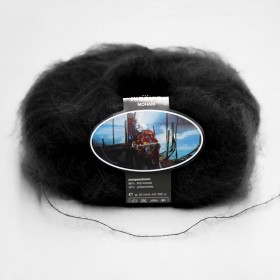 Mohair Yarn ISPE Needle Size 3,5 - 4 Black