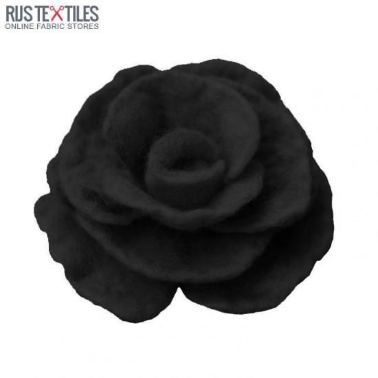 Felt Fabric Black