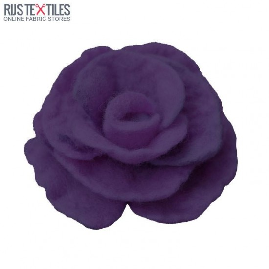 Felt Fabric Dark Purple