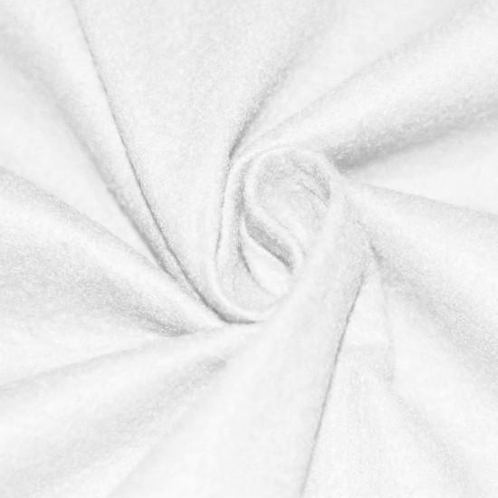 Felt Fabric White