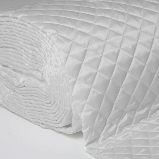 Lining White Quilted 5cm