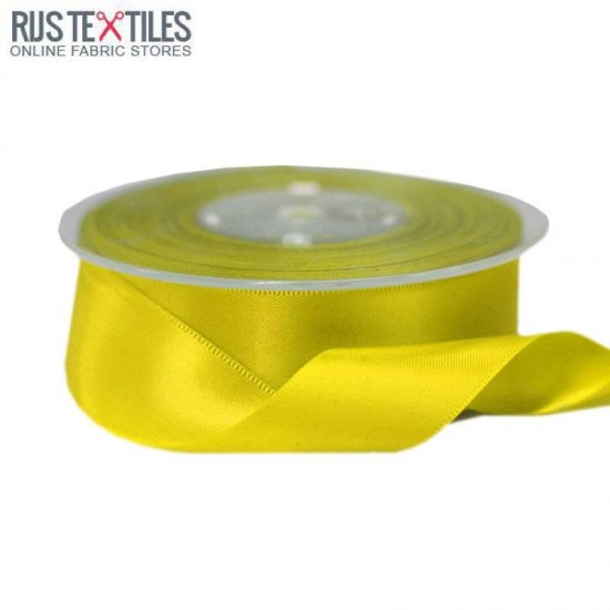 Satin Ribbon 25mm Yellow