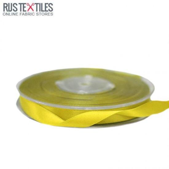 Satin Ribbon 9mm Yellow
