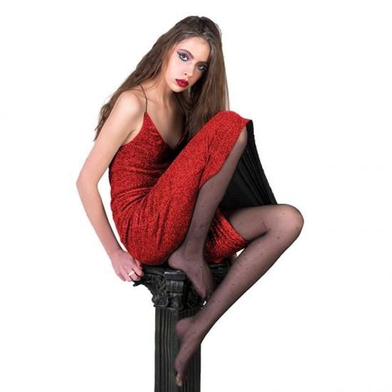 Jersey Glitter Dark Red