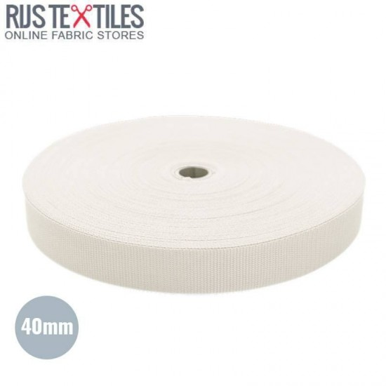 Polypropylene Webbing Off White 40mm (Per Meter)