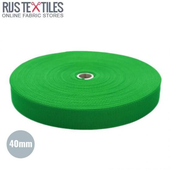Sangle Polypropylene Vert 40mm (au Mètre)