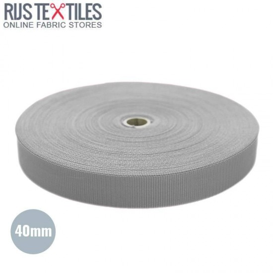 Polypropylene Webbing Light Grey 40mm (Per Meter)