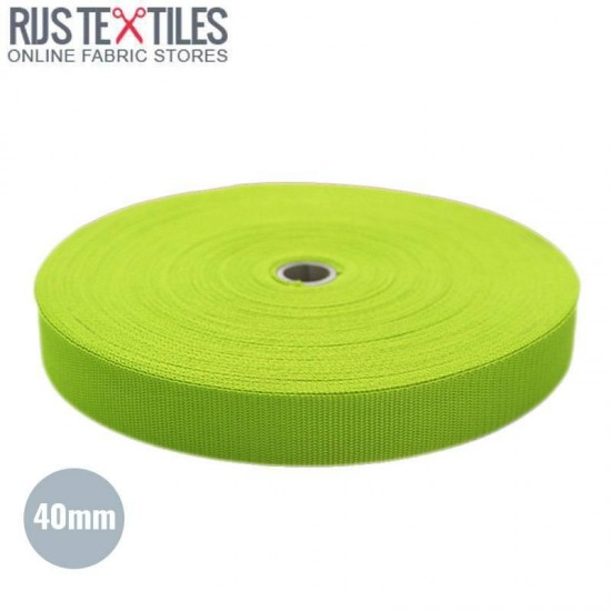 Polypropylene Webbing Lime 40mm (Per Meter)