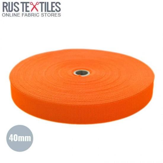 Polypropylene Webbing Orange 40mm (Per Meter)