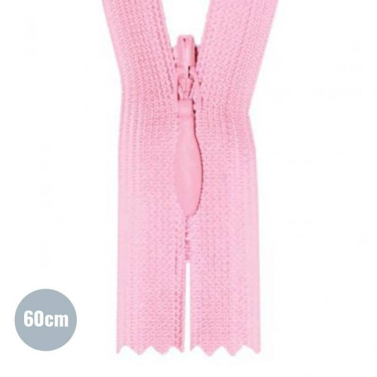 Invisible Zipper Pink YKK 60CM Not Divisible