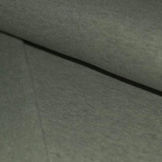 Sweat Fabric Brushed (Isoli) Army Green Melange