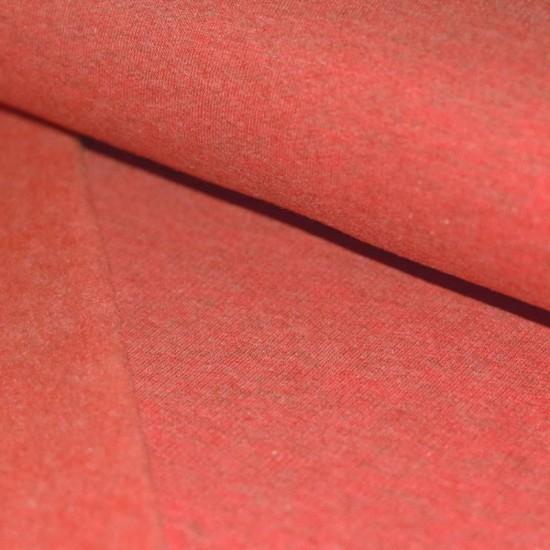 Sweat Fabric Brushed (Isoli) Red Melange