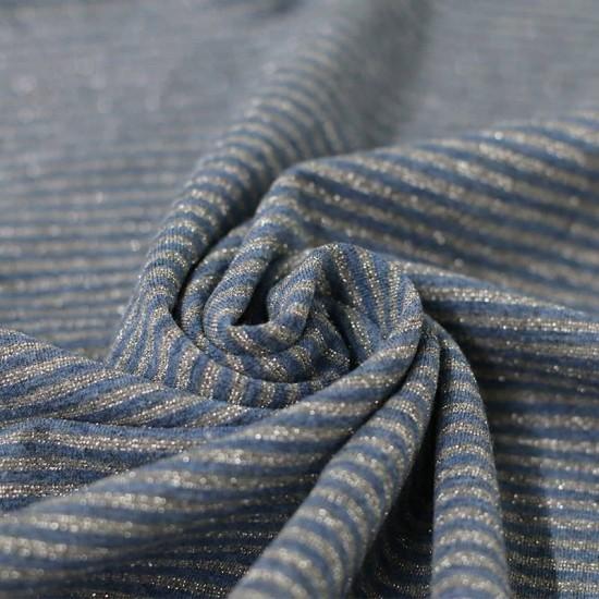 Jersey Lurex Stripes 3mm Jeans