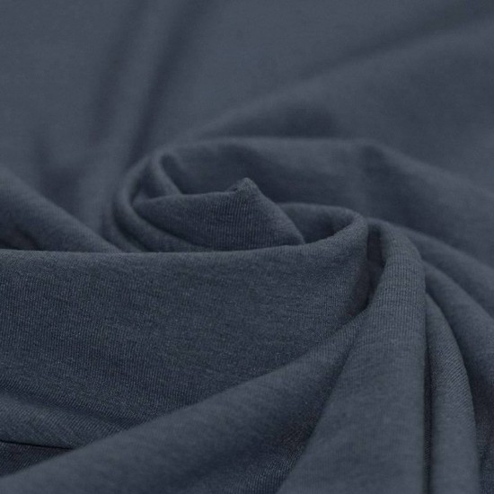 Cotton Jersey Knit Fabric Melee Navy