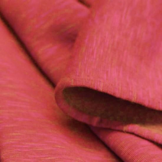 Sweatstoff Two Tone Fuchsia Orange Meliert