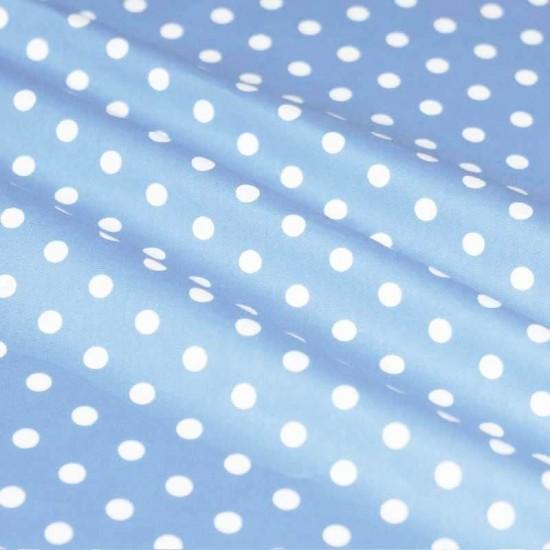 Katoenen Stippen Bleu / Wit 7mm