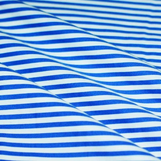 Cotton Stripe Cobalt White 5mm