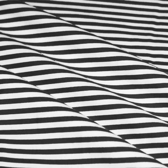 Cotton Stripe Black White 5mm