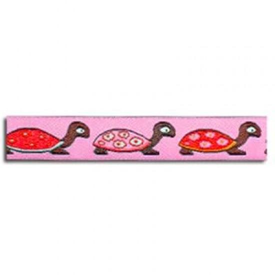 Nastri Per Bambini – Tartaruga Rosa 15mm